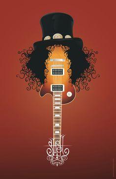 Guns-n-Roses - Slash art Hard Rock, Axl Rose, Guns N Roses, Rock Posters, Concert Posters, Rock Bands, Rock And Roll, Slash, Art Sculpture