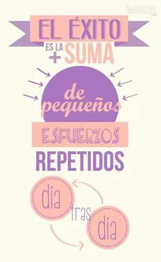 """""""El éxito es la suma de pequeños esfuerzos repetidos día tras día"""" #FelizMartes :)"""