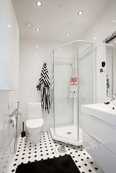 Via Aniliini   Black and White Bathroom