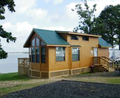 The best place to stay for views of Lake Fork!  Rent this cozy waterfront cabin at Pope's Landing Marina!  www.popeslanding.com