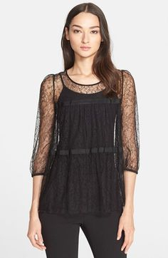 Armani Collezioni Lace Blouse available at #Nordstrom