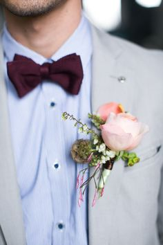 #bow-tie, #boutonniere  Photography + Creative Direction: J\'adore Love - jadorelove.com/ Design + Planning: Kasal NY - kasalnyevents.showitsite.com/ Floral Design: Ivie Joy - iviejoyflowers.com/  Read More: http://www.stylemepretty.com/2013/07/12/hugo-inspired-photo-shoot-from-kasal-ny-jadore-love/