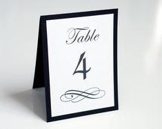 Wedding Table Numbers  Scripted  Event Table by agiftfordesign