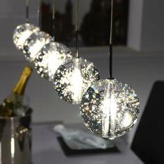 Hanglamp 'Arie' met 5 glazen bollen