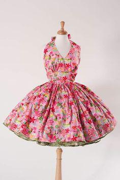 767ef567aace Luau Dress, Tiki Dress, Halter Dress Summer, Summer Dresses, Pin Up Dresses