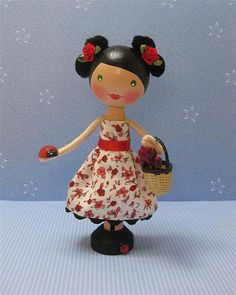 Japanese Inspired Clothespin Dolly (sold) | Flickr - Photo Sharing!