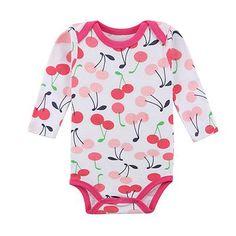 1a7d8686a62 Romper - Cute Cherry Romper - Todlrboutik. RompersBoysCuteLong Sleeve RomperBabies  ClothesOnesiesFloral PrintsCherryBaby Boy