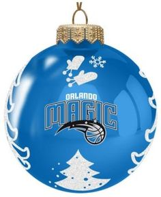 Memory Company Orlando Magic Glass Christmas Tree Ornament - Blue