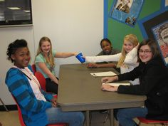 Monthly Student Led Bully Prevention Lunch | Alton Middle School | 6th graders participate in monthly discussions on ways to prevent bullying and how to promote a safe and welcoming school environment. These lunch periods are student led, which allows for open, honest discussion about the issue. Students learn appropriate responses to bullying and a common language for preventing bullying as well as having fun activities, such as making anti-bullying slogans.