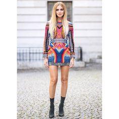 #ChiaraFerragni seen wearing #BALMAINRESORT17 dress at the women's #BALMAINSS17 show