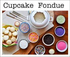 Need a fun activity for a party? How about a CUPCAKE FONDUE?