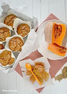 Muffins especiados de calabaza y pipas de girasol. Spiced pumkin muffins with sunflower seeds.