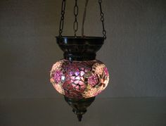 Moroccan lantern mosaic hanging lamp glass chandelier light lampe mosaiqe hng 81 #Handmade #Moroccan
