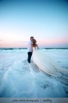 Destination Wedding Ideas - Photo Ideas - idea for a beach wedding.if you can stand to get your dress wet! Wedding Fotos, Beach Wedding Photos, Beach Wedding Photography, Wedding Pictures, Wedding Beach, Beach Weddings, Romantic Weddings, Hindu Weddings, Photography Poses
