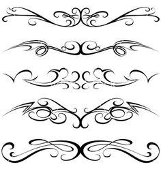 Calligraphic tattoo vector 851502 - by derocz on VectorStock®