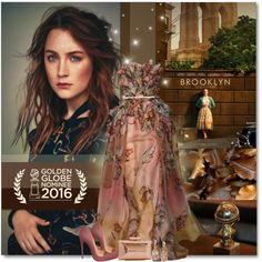 Saoirse Ronan for Brooklyn by petri5 on Polyvore featuring moda, Christian Louboutin, Treesje and LE VIAN