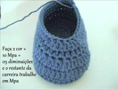 Step by Step Baby Booties - Crochet baby boo .- Passo a passo Sapatinho de Bebê em Croche – crochet baby bootie Crochet Baby Bootie Step by Step Baby Booties - Booties Crochet, Crochet Baby Sandals, Crochet Baby Booties, Crochet Slippers, Crochet Stitches, Crochet Patterns, Cotton Cord, Baby Slippers, Crochet Videos