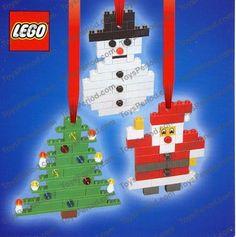 LEGO 4759 Three Christmas Decorations - Santa, Tree and Snowman Image 1 Easy To Make Christmas Ornaments, Lego Ornaments, Lego Christmas Tree, Noel Christmas, Christmas Crafts For Kids, Christmas Activities, Xmas Crafts, Ornaments Design, Christmas Ideas