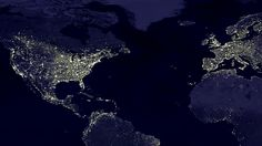 World light map  satellite image of the world at night. rich countries, light is largely a proxy for population density. Observe the thick cluster of the US Northeastern Megalopolis and the even bigger cluster in northwestern Europe. In poorer regions, however, the map represents not just population density but also the actual availability of electrical lighting. Huge swathes of Africa are barely illuminated at night and densely populated India looks rather dim.