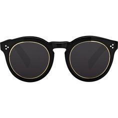 Illesteva Leonard II Ring Sunglasses ($290) ❤ liked on Polyvore featuring accessories, eyewear, sunglasses, glasses, acessorios, multi, rounded sunglasses, black round sunglasses, illesteva and keyhole sunglasses