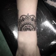 Half Mandala wrist work. More