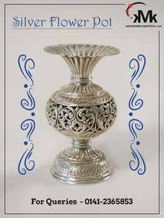 Offering a wide range of Silver Designer Glasses. These are made from high quality raw material and it is available in heavy and light weight. Such items are symbol of strength, betterment and positivity. In India, it's a ritual to make a new born baby drink liquid in the silver glass because it is good for his/her health. Appropriate for pooja ceremony or welcoming special guests.
