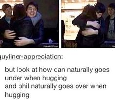 That would probably be a piece of Phan evidence bc here it's like two puzzle pieces...you know?