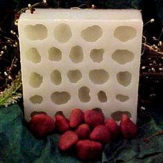 Measures: Sizes vary from 1 in. to 1 in. Wide, 1 in. to 1 in. Long, 1 in. to 1 in. Tart Molds, Diy Lotion, Cavities, Diy Beauty, Silicone Molds, Strawberry, Soap, Candles, Tarts