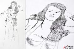 Silhouette femme. Dessin de mode. Fashion drawing #rotring #stylisation #stylist #woman #illustration