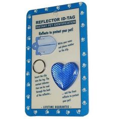Reflex Large Heart Reflecting Dog Tag Blue >>> Visit the image link more details.