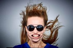 This selfie booth blasts you with 270mph wind before taking your picture