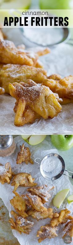 A few simple ingredients come together to make this Cinnamon Apple Fritter Recipe - filled with lots of fresh apples and the perfect amount of spice.: