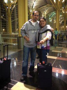 Despidiendome mi Hijo porque yo regresaba para Honduras.