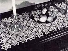 Runner Number 7710- This a free vintage pattern- Have made before and it is beautiful!!! Would make a pretty scarf as well using fewer rows. The motifs join as you go.