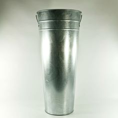 """24"""" Galvanized French Flower Bucket - $13.30. Lots of great buckets and pails at good prices."""