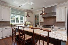 white cabinet, neutral counter | Shady Grove Kitchen - traditional - kitchen - other metro - Anna Baskin Lattimore Design