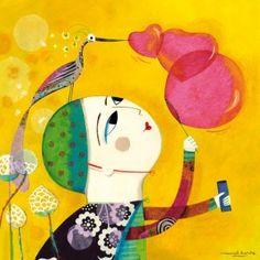 """Muriel Kerba """"Les bulles en coeurs"""""""