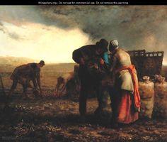 The Potato Harvest, 1855 - Jean-Francois Millet