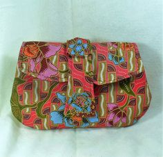 Indonesian Batik Flower Clutch Handbag - pinned by pin4etsy.com