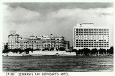 Semiramis and Shepheard's Hotel, Cairo Egypt RPPC Old Egypt, Cairo Egypt, Shepheard's Hotel, Cool Photos, Interesting Photos, Vintage Pictures, Egyptian, 19th Century, Nostalgia
