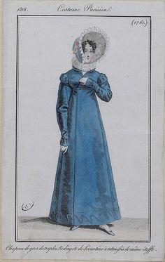 Redingote de Levantine, 1818 costume parisien