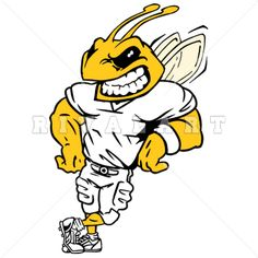 Mascot Clipart Image of Bees Mascot Logo Design Colored Graphic ...
