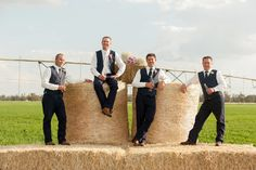 It was love at first sight for this week's rural bride Elyse Maher and husband Ben, who met on a blind date set up by Elyse's best friend. Blind Dates, Love At First Sight, Mr Mrs, Railroad Tracks, Groomsmen, Best Friends, Bride, Pictures, Wedding