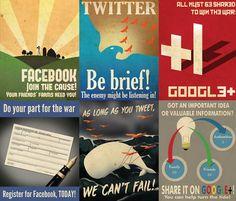 Social Media Propaganda Posters...I LOVE these! Hilarious.