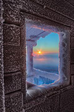Frosty sunrise - Lapland, Finland  (by Julius Rintamäki on 500px)