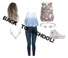 """""""Back to School"""" by carlavecchio123 ❤ liked on Polyvore featuring J Brand, Converse, Vera Bradley and Bling Jewelry"""