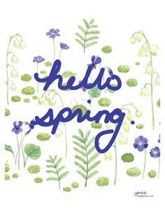 Hello Spring Art Printable