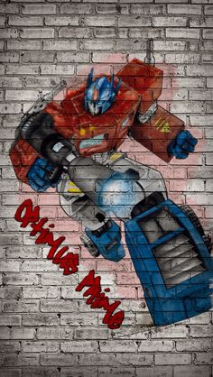 Optimus Prime graffiti