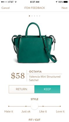 Stitch fix stylist: love this purse. Would love it in a grey or brown!Octavia Satchel