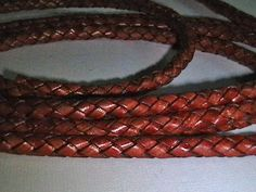 6mm Leather Braided Bolo Cord  Antique Tan  2 by IGraphicSupplies, $7.95